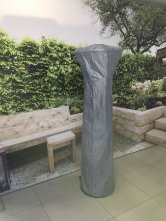 HOES / COVER LOUNGE HEATER 1.80m zwart