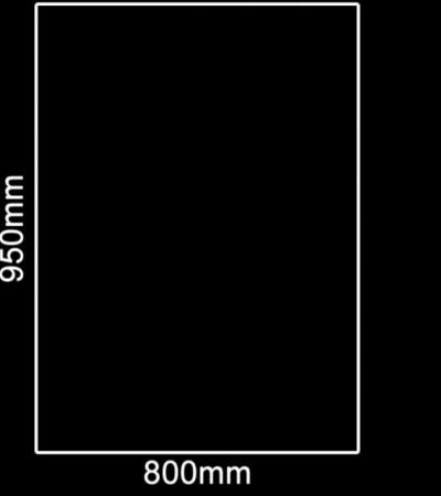 Glasplaat Zwart-95X80 (lichte besch.) Aanbieding