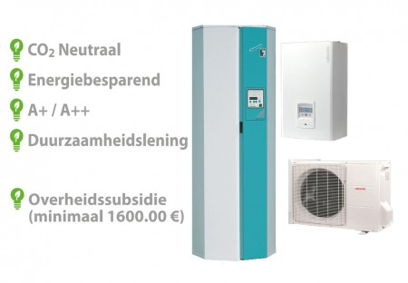 Techneco Loria 6008 / Warmtepomp 8kw en buffer