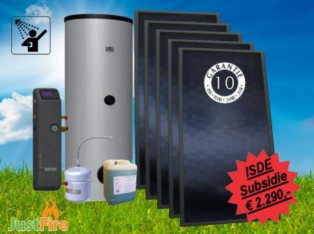 Zonneboiler 500 liter met 5 Solmax zonnecollectoren  - 500-5slm