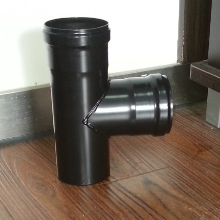 80mm ZWARTE PIJP T-STUK