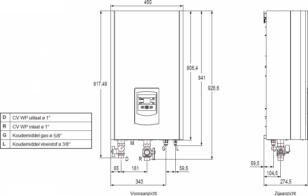 Techneco Loria 6004 / Warmtepomp 4kw en buffer - KALOR ...