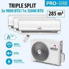MITSUI PRO TRIPLE 2X9-/1X12000BTU (A++) 280m3
