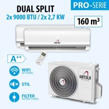 MITSUI PRO DOUBLE 2X9000BTU (A++) 160m3