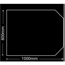 Glasplaat Zwart-100X80 (lichte besch.) Aanbieding