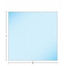 Glasplaat HELDER-90X90 (lichte besch.) Aanbieding