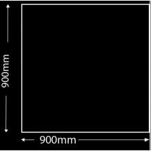 Glasplaat Zwart-90X90 (lichte besch.) Aanbieding