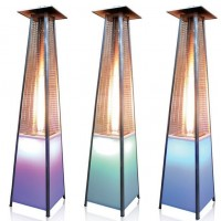 GAS PIRAMIDE HEATER (Wit LED 2.27m 13kw)