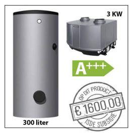 SET Warmtepomp 3,0kW - KA17678 - + Buffervat 300L