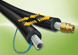 Zonnenboiler (15 meter) flexibele RVS slang DN16 2 in 1