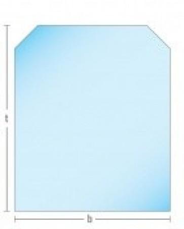 Glasplaat Helder-100X80 (lichte besch.) Aanbieding