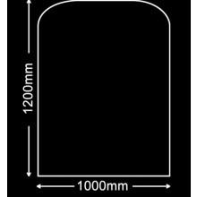 Glasplaat Zwart-Glas 120X100 (lichte besch.) Aanbieding