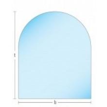 Glasplaat HELDER-120X100ROND (lichte besch.) Aanbieding