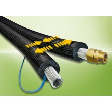Zonnenboiler (5 meter) flexibele RVS slang DN16 2 in 1